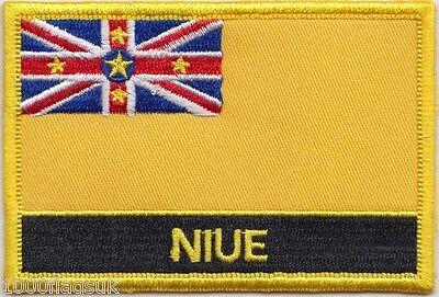 New Zealand Niue Flag Embroidered Patch Badge - Sew or Iron on