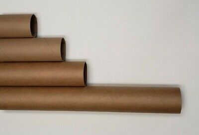 Heavy-duty Round Mailing Tubes - 2x Stronger Many Sizes White End Caps Included