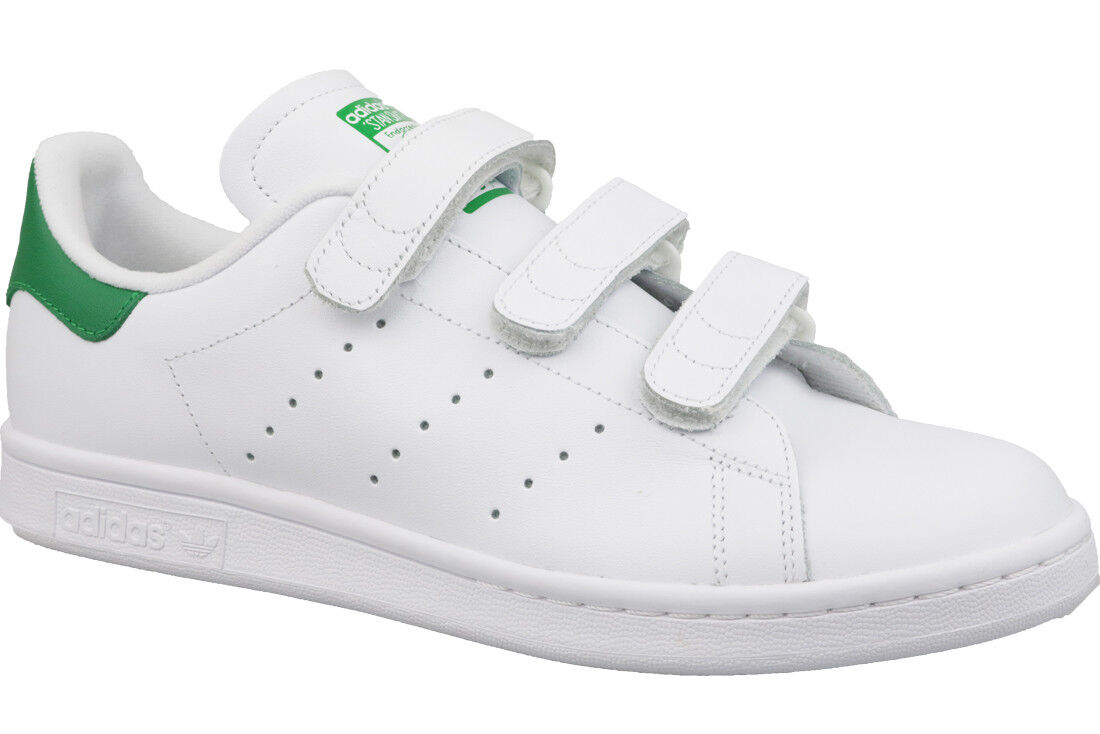various colors 032c2 240a5 adidas Originals Stan Smith CF White Green Mens Srap Shoes SNEAKERS ...