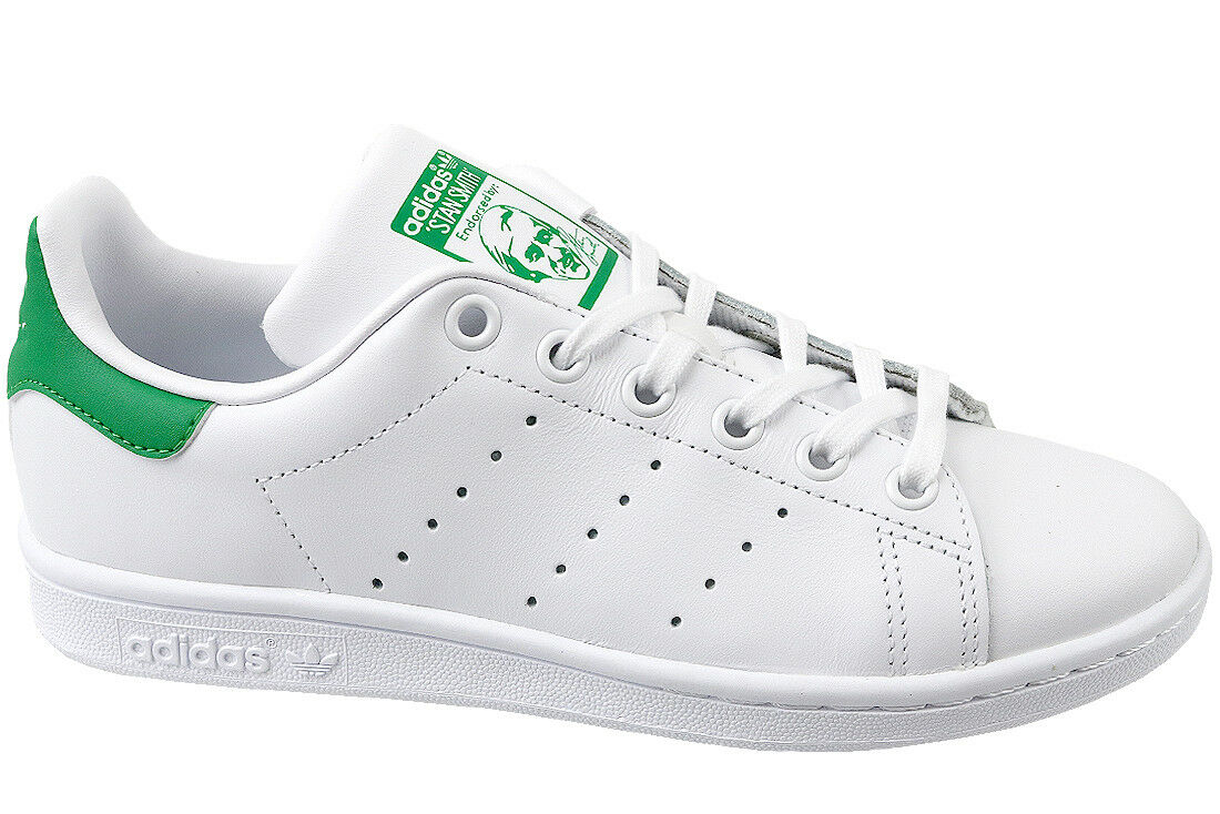 quality design a86d8 4bf88 adidas Originals Stan Smith GS Trainers in Running White   Green ...