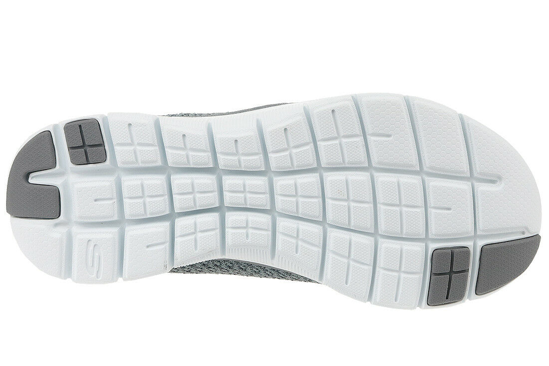 Skechers Sk12773 Flex Appeal 2.0 Bold Move Charcoal Grey Ladies Trainer 3 8 UK 6