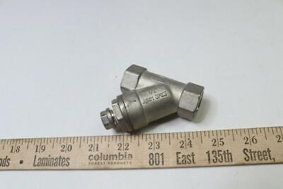 Titan 0.5 Ys80t-ss Y-strainer Threaded Stainless Steel 800 Psi 9.4 Cv 12