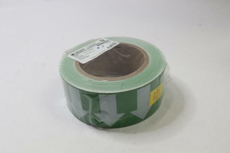 Brady Arrow Tape 91421 ,White/Green,2 In. W