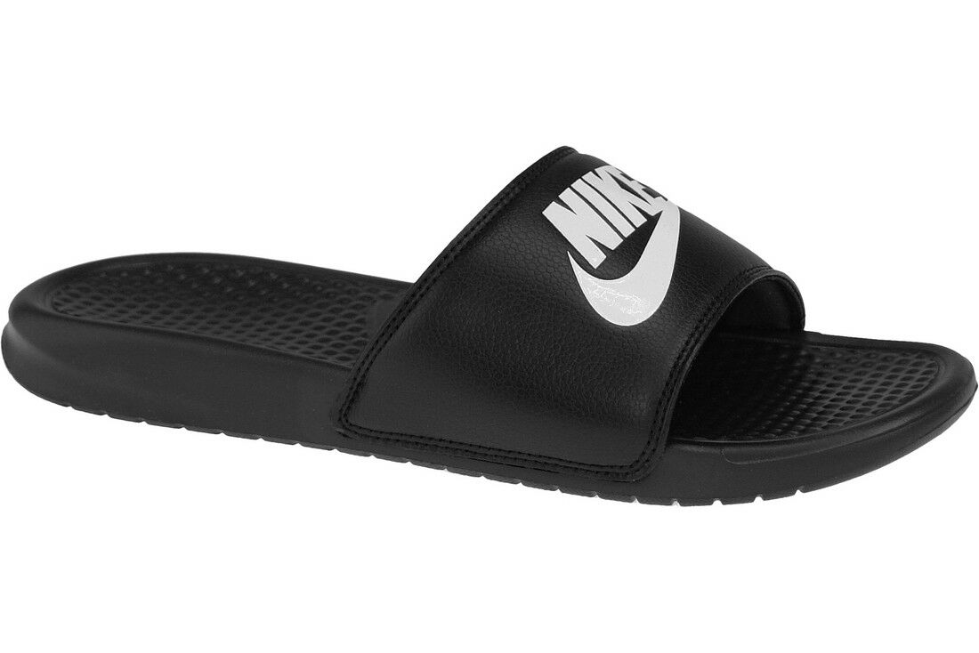1894787cf Mens Black Nike Benassi JDI Flip Flops Pool Beach Holiday Shoes ...