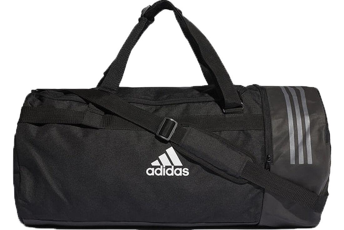 new arrival 41cf1 5a93d adidas Convertible 3s Duffel Bag S CG1532 Black for sale online   eBay