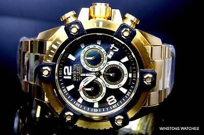 Invicta Reserve Grand Arsenal Watch 63mm Swiss Made Chronograph Gold Black New