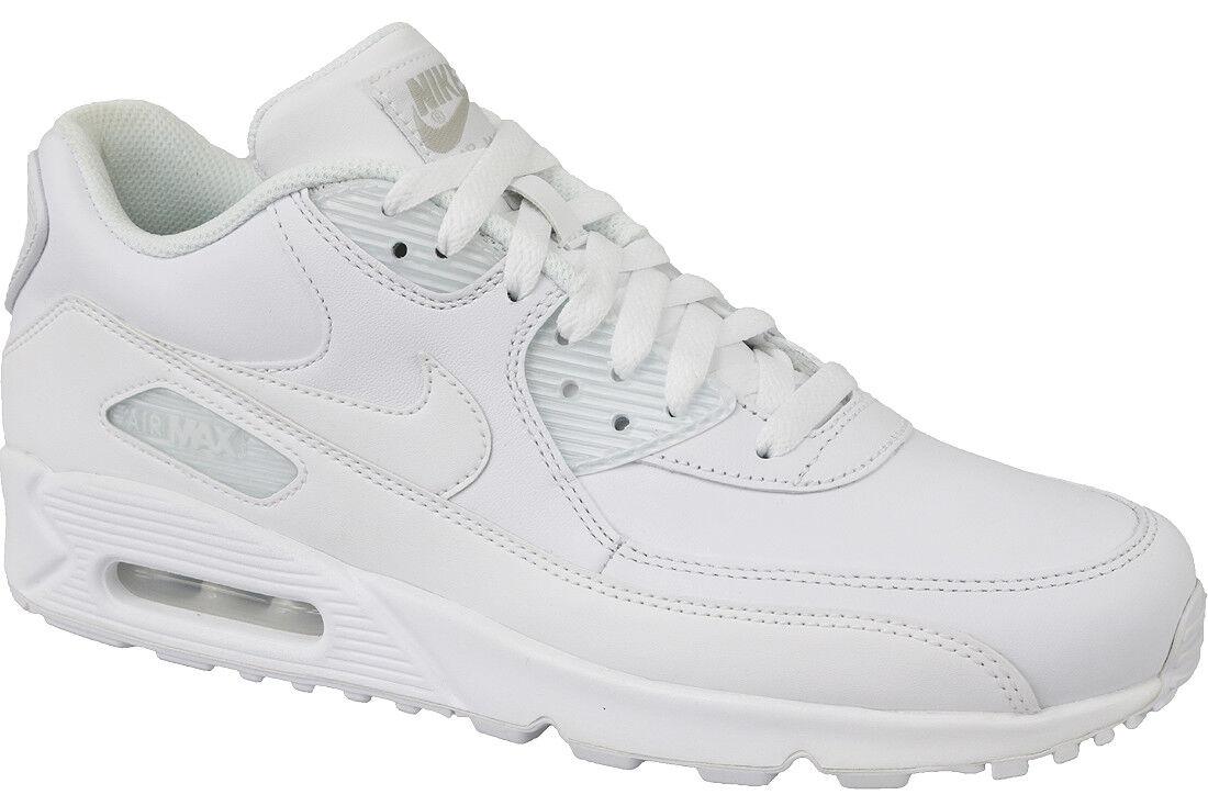 Laufschuhe Nike Air Max 90 Leather 302519 113 Herren weiß Größe 45 Leder