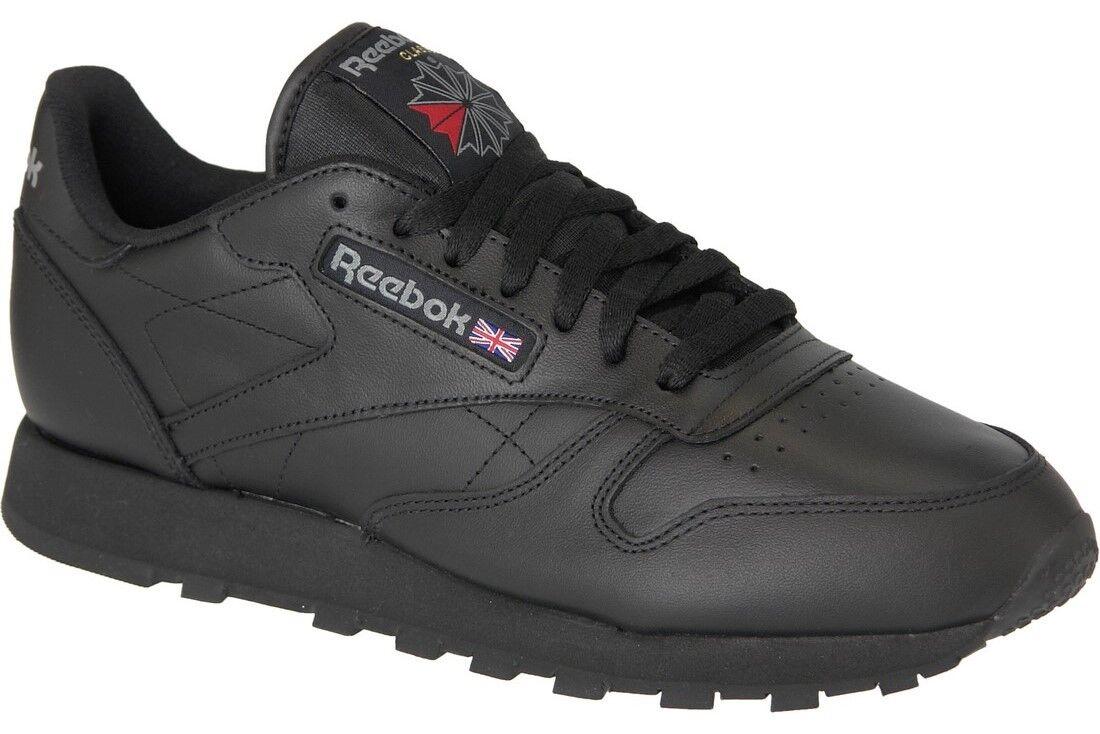 Reebok Classic Leather schwarz Herren Sneaker Gr. 43
