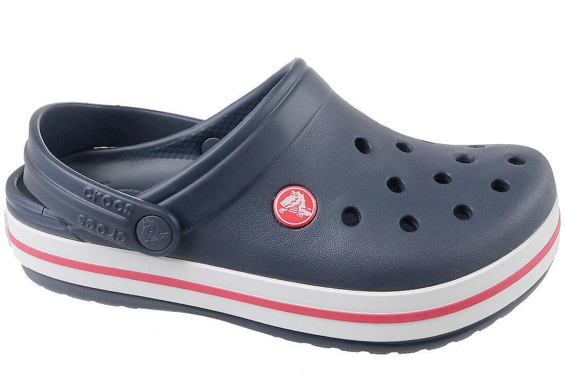 1ce6ae050 Crocs Children Sport Casual Clogs Kids  Crocband Clog Navy Red J3 34 ...