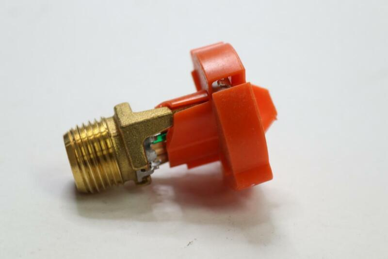 "Qty 10 - Viking XT1 Fire Sprinkler 5.6k Brass Upright QR 200F VK3001 1/2"" NPT"