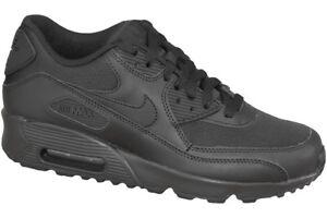 Nike Air Max 90 Mesh GS Shoes Black Trainers 833418 001 Classic Skyline UK 4 5