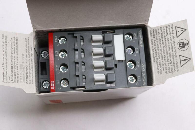 ABB AF16-30-10-12 CONTROLS AF16-30-10-12 AC/DC CONTACTOR IEC
