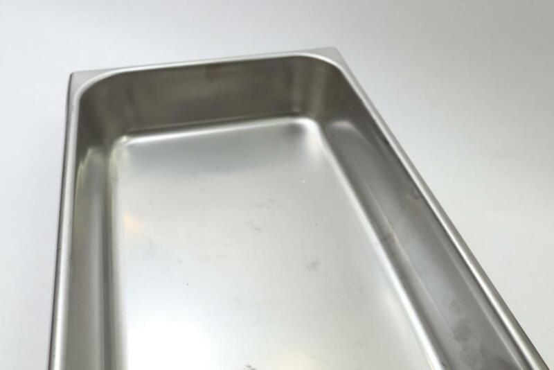 "Qty 2 - Vollrath 2 1/2"" Deep Stainless Steel Deli Pan 74262"