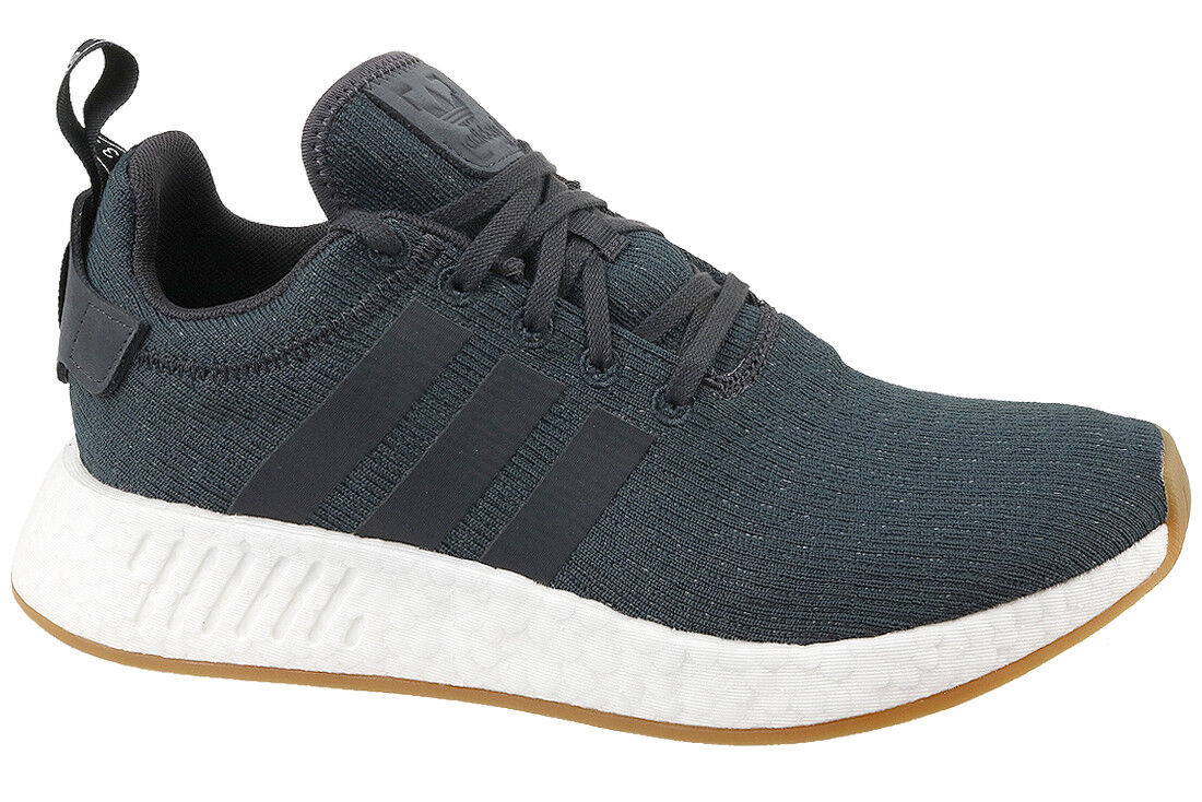 ecda2d37a adidas Originals NMD R2 Boost Black White Men Running Shoes SNEAKERS ...