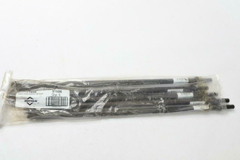 "5 Pack - Mayhew Pro 31986 Steel Pneumatic Chisel 18"" x 5/8"""