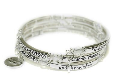 Prayer Bracelets (4031299 Serenity Prayer Coil Bracelet God Grant Me the Serenity AA Friend of)