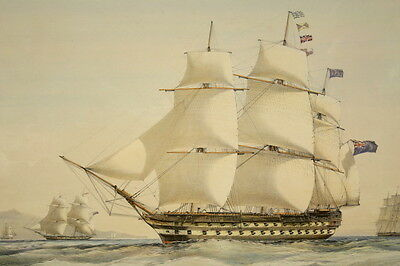 H. M. S. Collingwood, 80 guns H. VERNON, DAY & HAGHE England Royal Navy 1840