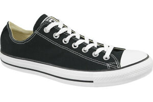 official photos 535a3 b40d1 Converse Mens Black Chuck Taylor All Star Low Top Trainers M9166c UK ...