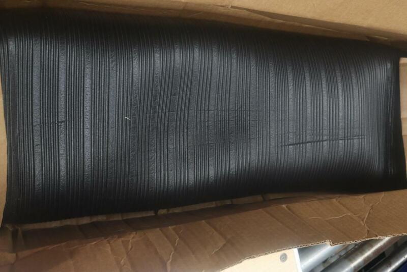 "Uline H-648BL Anti-Fatigue Mat Black 3/8"" Thick, 3 x 8"