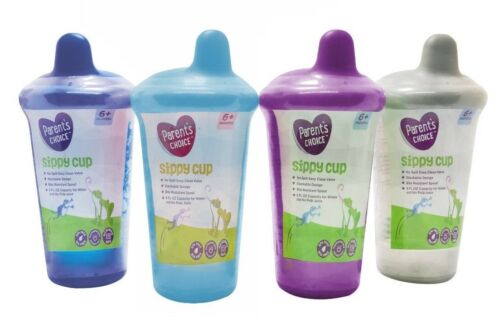 Sippy Cup Parents Choice 9 oz 6 + months Colors Vary