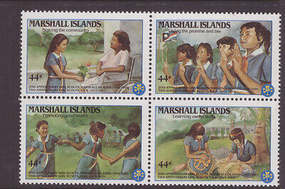 Marshall Islands 1986 Girl Scout Movement  set MNH mint block of 4 stamps