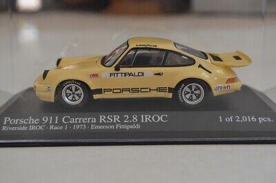 1:43 Minichamps - Porsche 911 Carrera RSR 2.8 IROC RiverSide IROC 1 1973