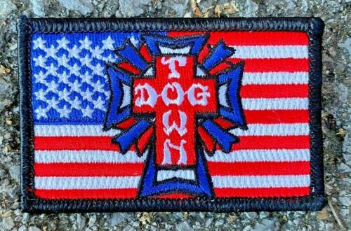 """Dogtown Skateboards Embroidered Flag 3"""" Patch"""