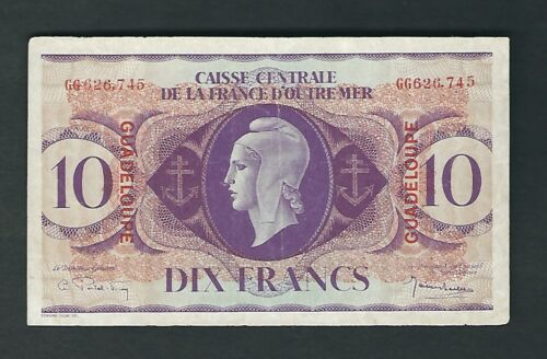 Guadeloupe - Ten (10) Francs   1944