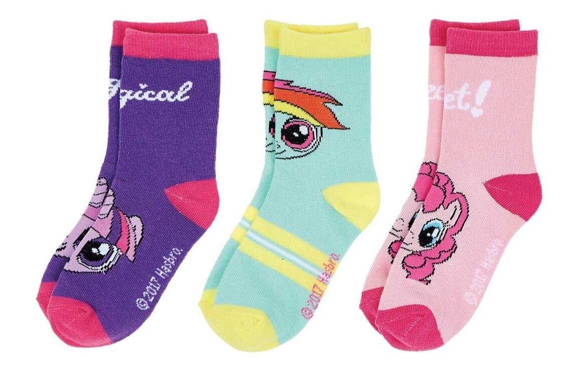 3er Pack Disney My Little Pony Söckchen Socken Strümpfe Gr. 23 - 34 NEU u OVP