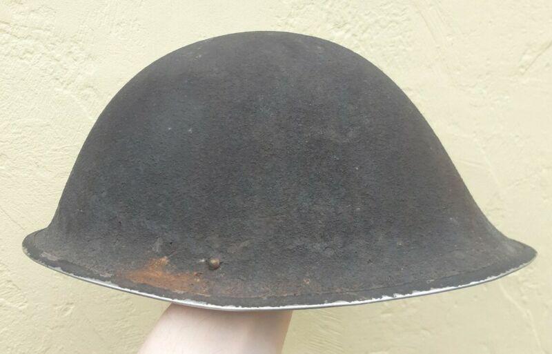 Original WWII WW2 UK British Army MkIII Steel Helmet 1945 Dated