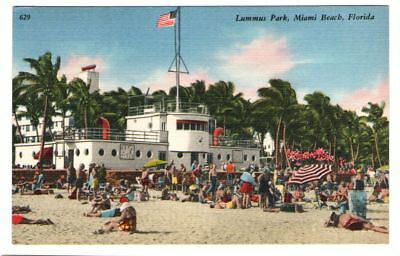Undated Unused Postcard Lummus Park Miami Beach Florida FL