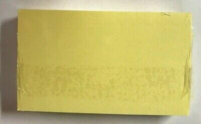 3x5 Index Cards 100pack Canary Color Unruledplain  New  Free Shipping