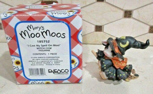 "Enesco Mary Moo Moos ""I Cast My Spell On Moo"" Figurine #185752 Free Shipping"