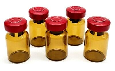 5ml Amber Glass Sterile Vials - 10 Pack - Free Shipping