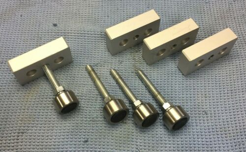 80/20 2130 Base Plate 3/8-16 Center Tap - 15 Series -With Leveling Feet-set of 4