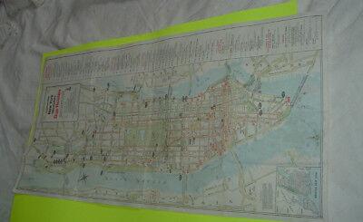 Vintage NYC Manhattan Hagstrom Bus Lines Map New York City 1970's for sale  Saint Clair
