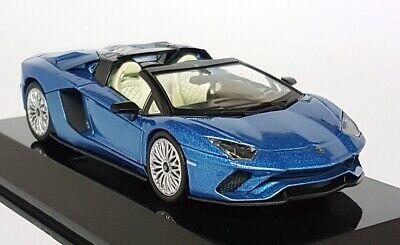 Altaya 1/43 Scale - Lamborghini Aventador S Roadster Blue 2017 Diecast Model Car