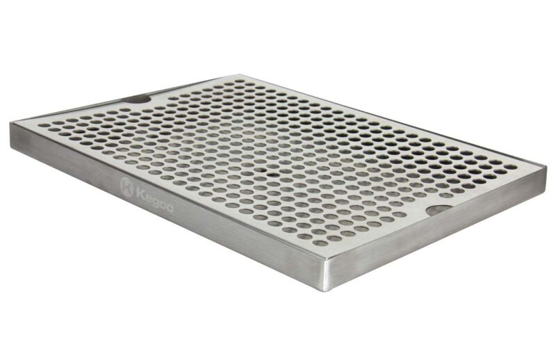 """Kegco SESM-189D 18"""" x 9"""" Surface Mount Drip Tray with Drain"""