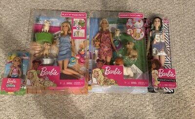 Barbie Doggy Daycare + Play N' Wash Pets + Chelsea + Fashionista 110 (4 Sets!)