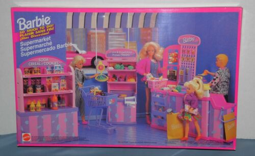 Barbie So Much To Do Supermarket Playset NRFB Sealed 1994 Mattel Groceries food