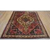 5'3 x 6'1 Antique 1930s Authentic Persian Tribal Handmade Oriental Wool Area Rug