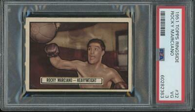 1951 Topps Ringside #32 Rocky Marciano RC Rookie VG PSA 3