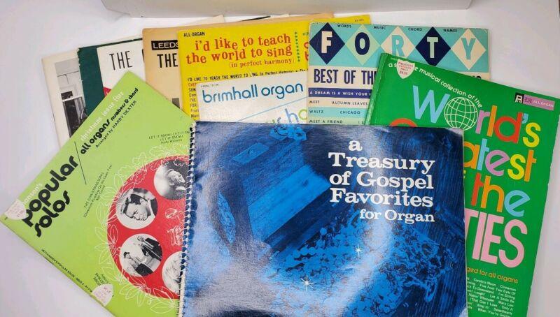 Lot of Organ Song Books, Sheet Music, Gospel, Christmas, 70s Hits, Inspirational