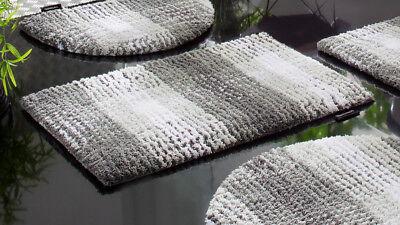 Badematte Bruno Banani »Kyros« Microfaser, Höhe 25 mm. 160 x 90 cm. Grau. NEU!!!