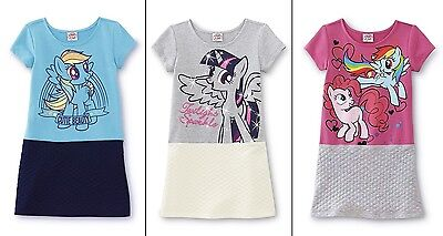 Girls My Little Pony Dress Size 6/8/10/12/14 Pinkie Pie Rainbow Dash Top NEW NWT