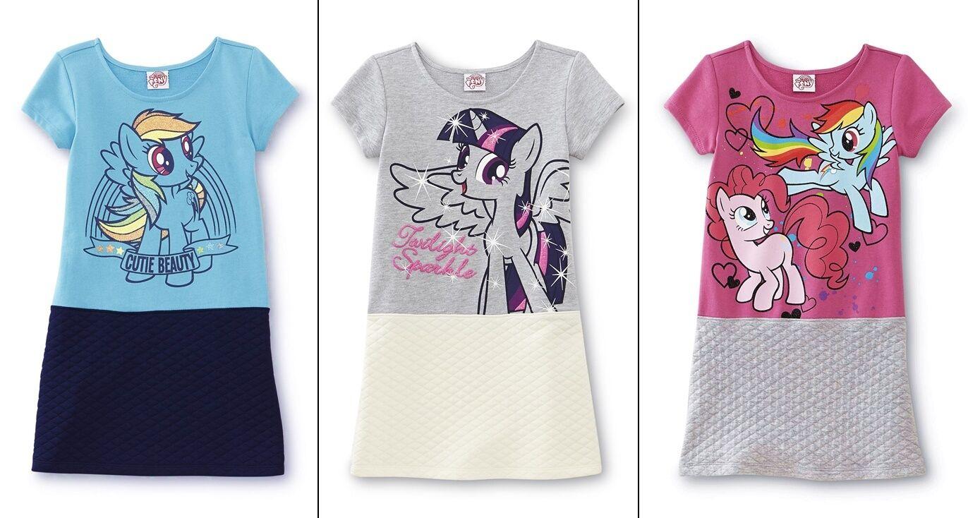 Girls My Little Pony Dress Size 6/8/10/12/14 Pinkie Pie Rain