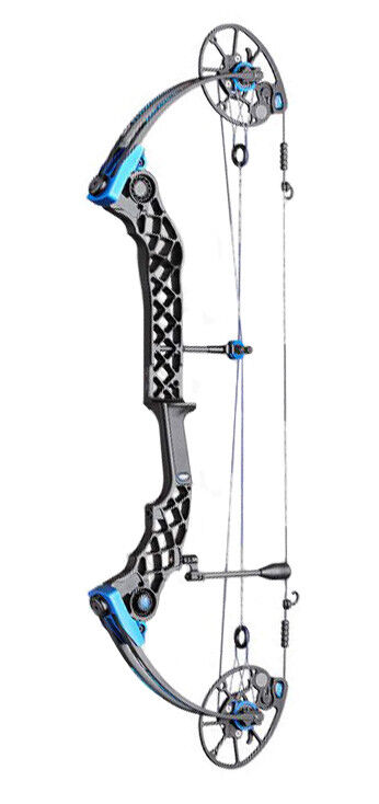 Photo Mathews Monster Chill R  - Black w/Blue Accents - 60# - 27.5