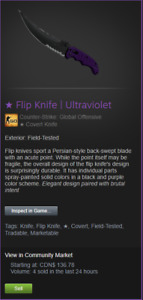 Trading CSGO Knife for Runescape GP / Gold