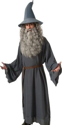 Gandalf Costume Adult LOTR The Hobbit Wizard Sorcerer Robe- Std & XL Plus Size -