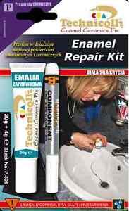 ENAMEL REPAIR KIT Bath Sink Shower Tray CHIP WHITE Ceramic  Acrylic NOT PAINT